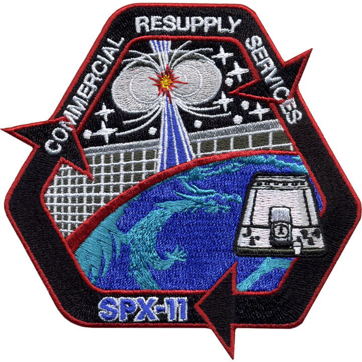 CRS SpaceX 11 - Space Patches