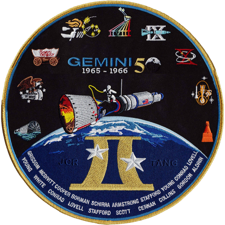 Gemini Commemorative Back Patch - Space Patches