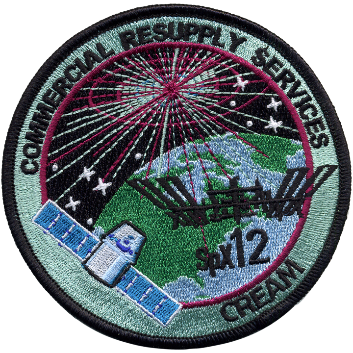 CRS SpaceX 12 - Space Patches