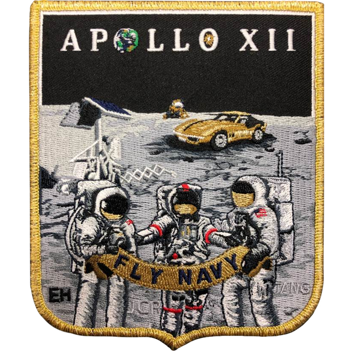 Apollo 12 Commemorative Spirit - Space Patches