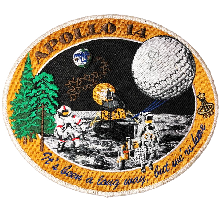 Apollo 14 Commemorative Spirit - Space Patches