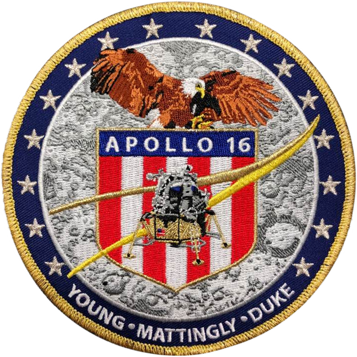 Apollo 16 Commemorative Mission Patch - Space Patches