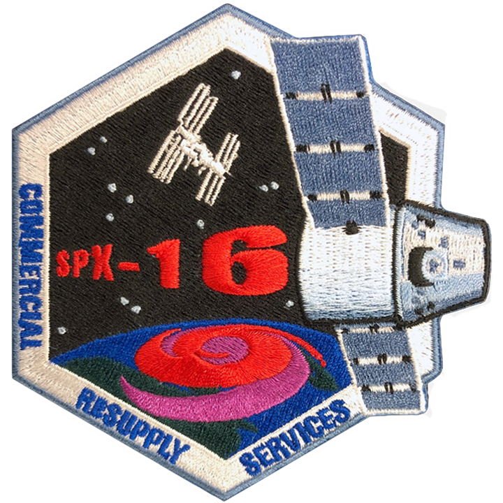 CRS SpaceX 16 - Space Patches