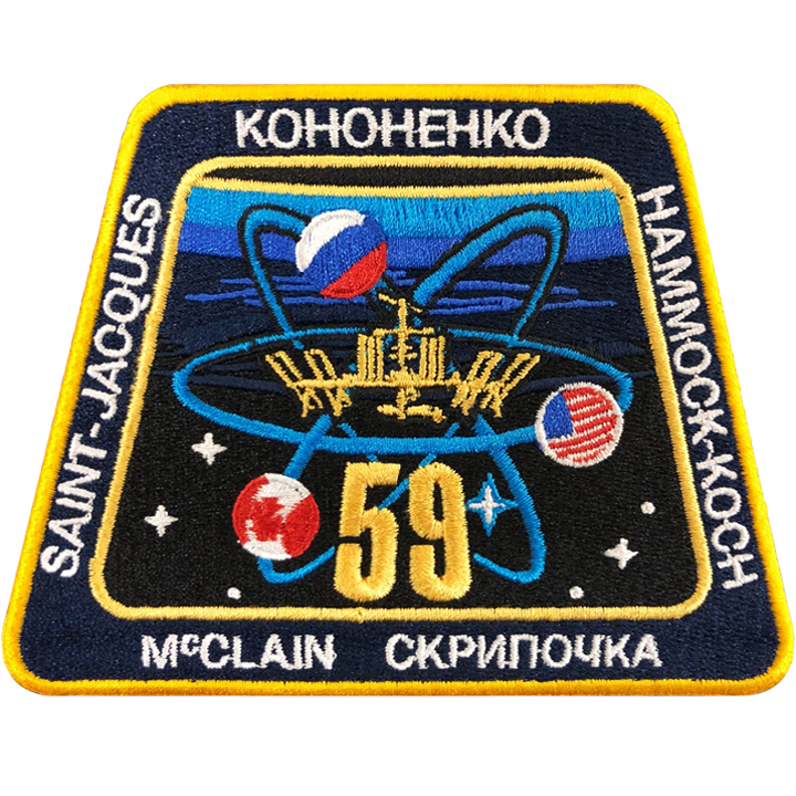 Expedition 59 Crew Change - Space Patches