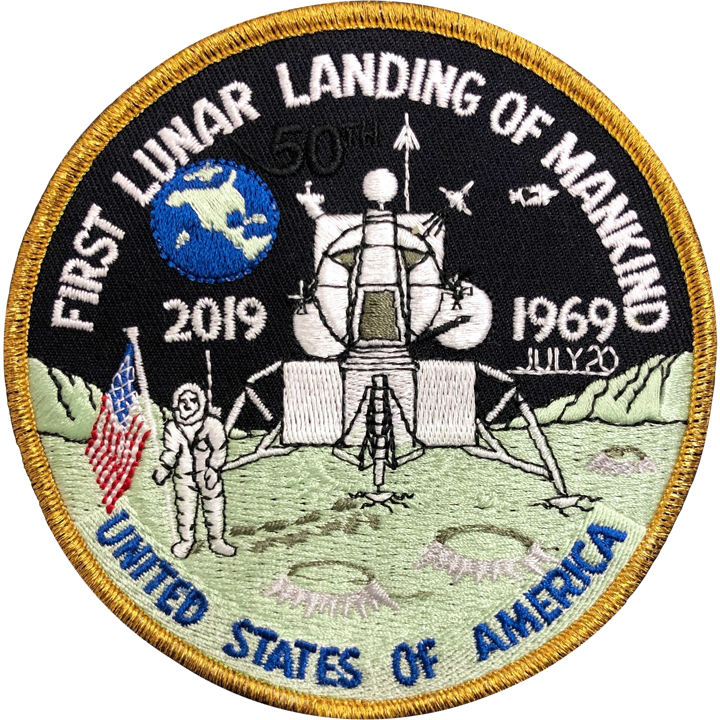 First Lunar Landing 50th 1969-2019 - Space Patches