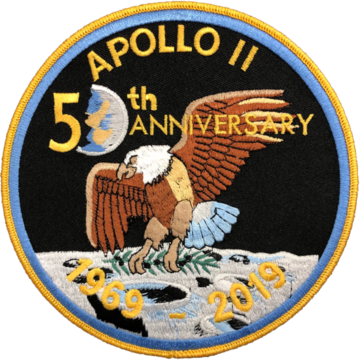 "Apollo 11 50th Anniversary 6"" - Space Patches"