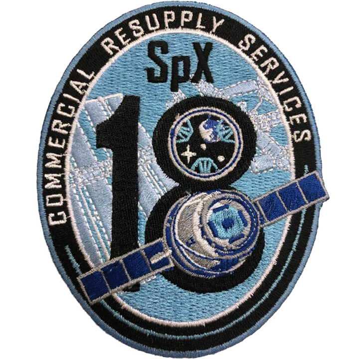 CRS SpaceX 18 - Space Patches