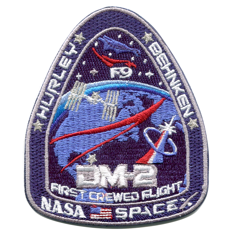 DM-2 First Crewed Flight - Space Patches