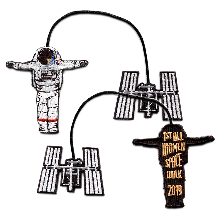 1st All Women Spacewalk Christmas Ornament - Space Patches