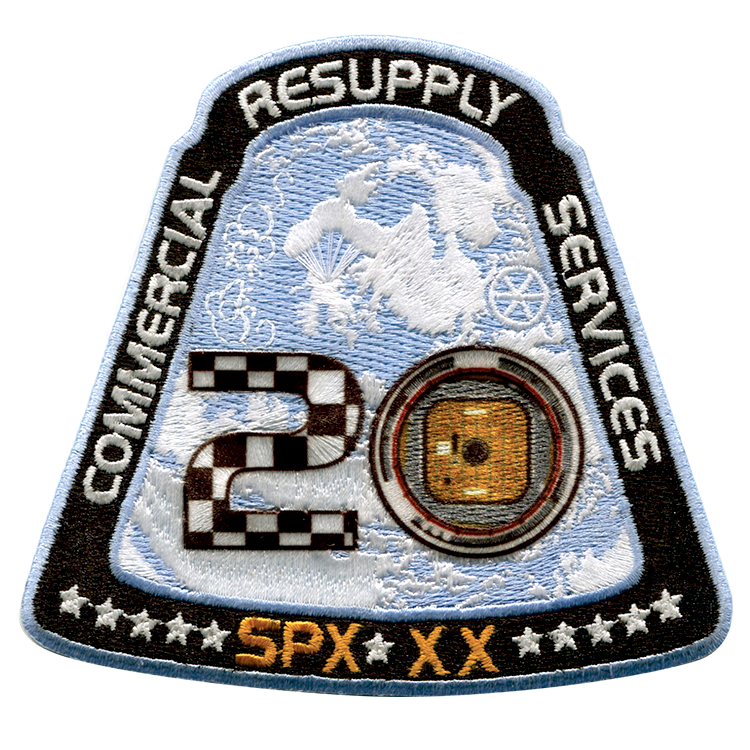 CRS SpaceX 20 - Space Patches
