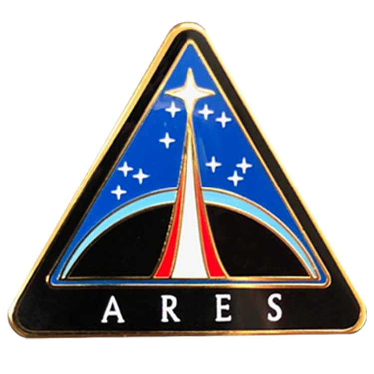 Ares Pin - Space Patches