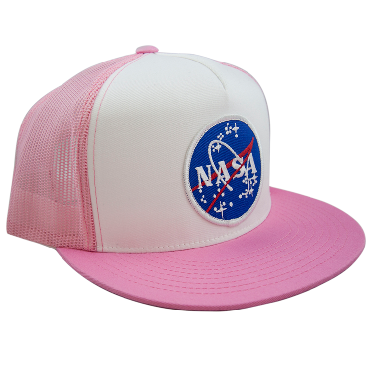 Meatball Pink Trucker Cap - Space Patches