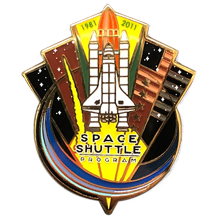 Last Shuttle Mission Pin Set - Space Patches