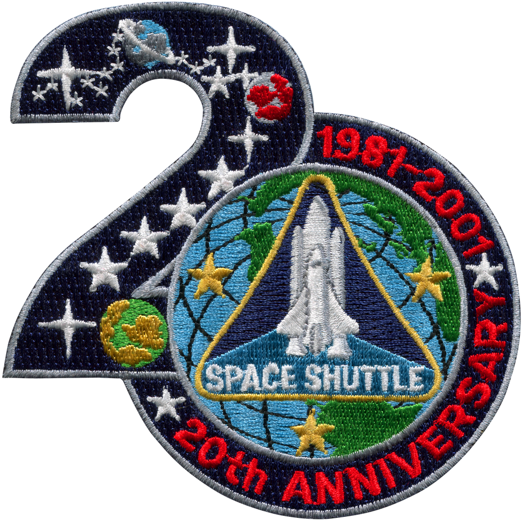 Shuttle Program 20th Anniversary - Space Patches