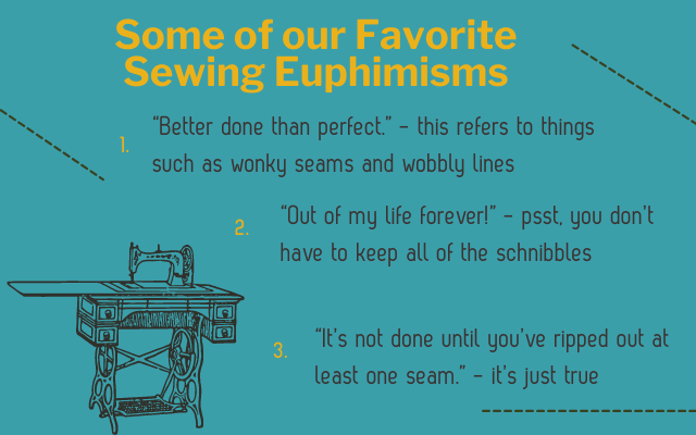 Our favorite sewing euphemisms.