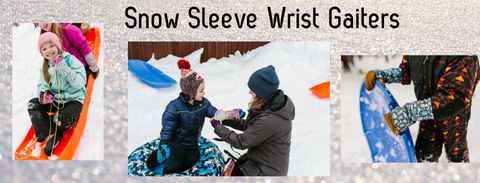 Snow Sleeve Wrist Gaiters Keep Gloves On and Snow Out