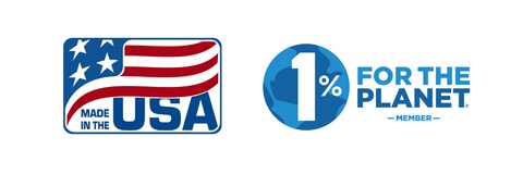 USA Made with 1% for the Planet Give Back