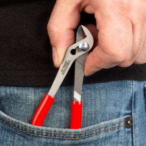 This High-Quality Angled Pliers is one of our go-to tools for Zipper Repair.