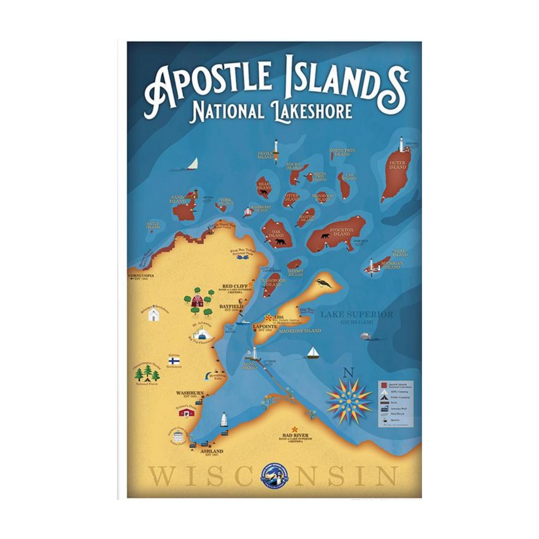 Apostle Islands Map Card