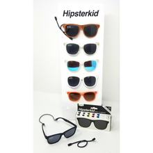 Load image into Gallery viewer, These comfortable, stylish baby, toddler & little kid sunglasses make life easy with a stay on strap and soft case included.