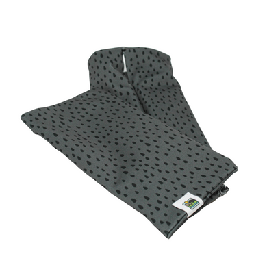 Snow Sleeves Black Rain on Grey Print- Rainy drops add just enough to make you think of spring adventures while still matching anything.
