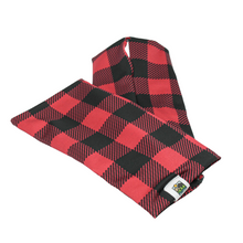 Load image into Gallery viewer, Snow Sleeves Buffalo Plaid – Now you can rock this 150 year old print in a whole new way!  Whether it evokes nostalgic Paul Bunyan myths, up north style, or cowboy life-  it's true, Buffalo Plaid originated in USA's very own Woolrich Woolen Mills in 1850.
