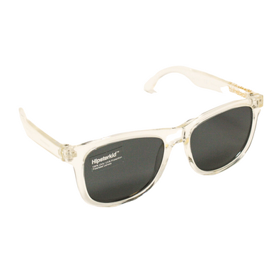 Hipster Kid Sunglasses in Clearly Cool are polarized, 100% UVA/UVB protection and durable for all of your adventures.