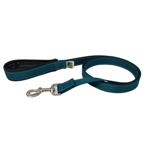 AdventureUs Dog Leash Deep Teal Reflective- These high visibility styles not only look hot but keep you safe no matter where you roam.  All colors are made with two reflective strips to help keep you and your furbaby safe!