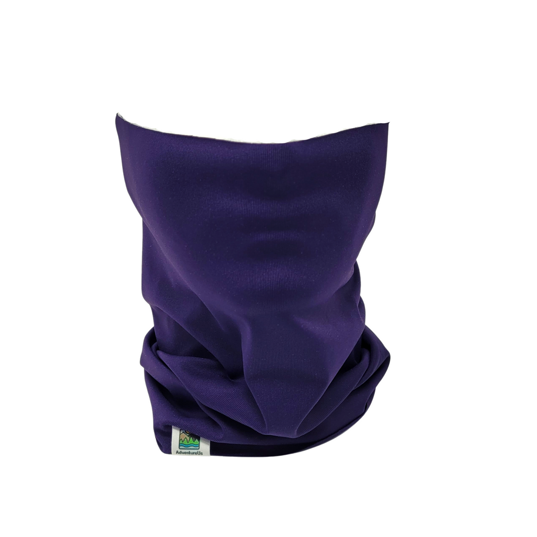 AdventureUs' Neck Gaiters are designed to fit comfortable over mouths and noses to stay in place while you have fun.
