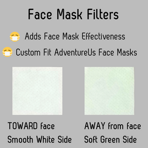 Face Mask Filters provide added filtration effectiveness.