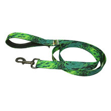 Load image into Gallery viewer, AdventureUs Dog Leash Green Python Power-  You'll be the envy of the yard with this amazing python print.  Did you know that pythons can reach up to 33 feet, 250 lbs, AND are camouflaged to blend into their wide range of habitats throughout the world?!  Cool, right! Super Cool.
