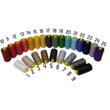 Load image into Gallery viewer, Gutermann Mara 100 polyester thread is perfect for repairs, mending, patching, activewear garments and topstitching.