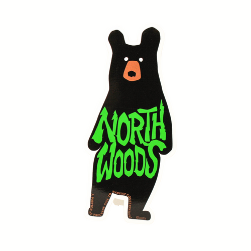 Northwoods Sticker Collection- Black Bear- high quality, durable stickers.