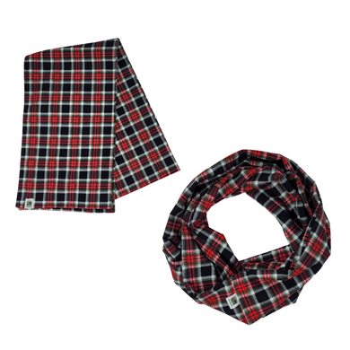 Cozy up for the with this flannel plaid scarf!