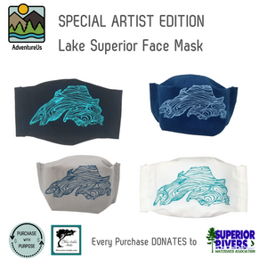 Show your love of Lake Superior with these comfortable face masks made right in Northern WI.