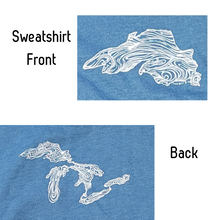 Load image into Gallery viewer, Evoke the sense of peace, wonder & inspiration of Lake Superior with these cozy sweatshirts!