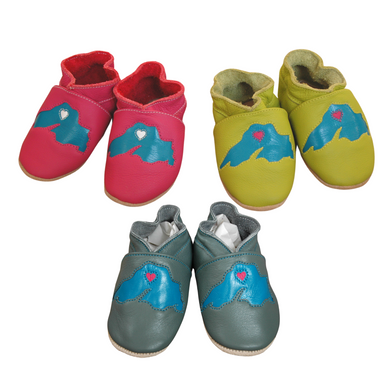 Wee-Kicks are handcrafted toddler shoes made from quality leather. These Lake Superior shoes are perfect for any lake lover and adventurer in your life!