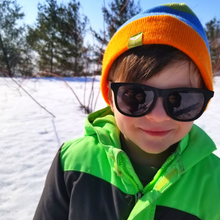 Load image into Gallery viewer, These baby, toddler & little kid sunglasses not only protect developing eyes from harmful UV rays, but they look so hip too!