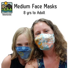 Load image into Gallery viewer, AdventureUs' Unique Face Masks are designed for all-day comfort and sized for the whole family.