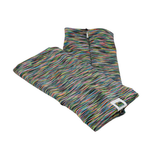 Snow Sleeves Multicolored Sport- With rainbow striations of hot colors intermixed with black stripes, this pattern brings subtle stylish fun to your sporty adventures.