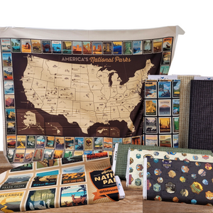 Riley Blake National Parks themed fabric collection is a great way to combine your love of the outdoors with your love of crafting!