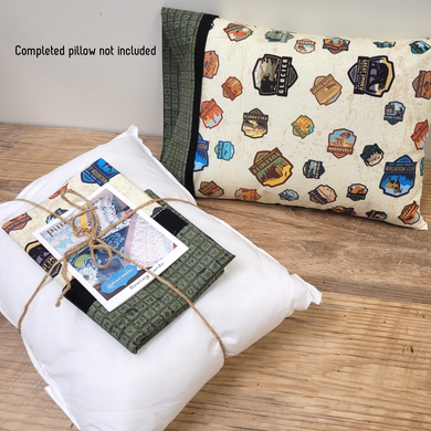 This sweet little travel pillow kit is super fast and easy to put together.