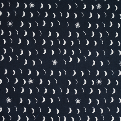 This beautiful night sky fabric is perfect for quilting, patching, curtains, bags and more!  The print features 1/2