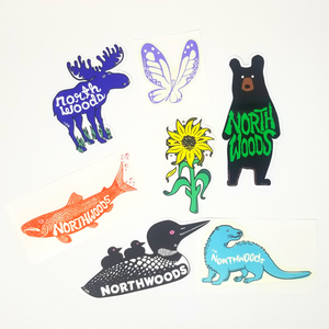 Northwoods Sticker Collection- high quality, durable stickers.