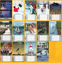 Load image into Gallery viewer, Full Color Locally Designed 2021 Calendar of Northwoods favorite places to be.