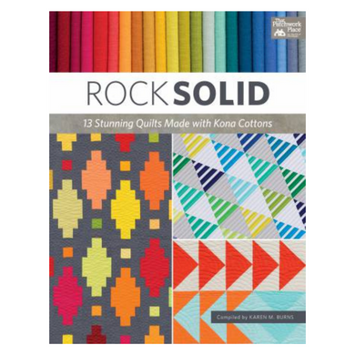 Solids: they're versatile, they're affordable, and they've got the starring role in 13 vibrant quilts by top designers! This new collection of bright and simple-to-stitch designs with subtle modern style shines in colorful Kona Cotton