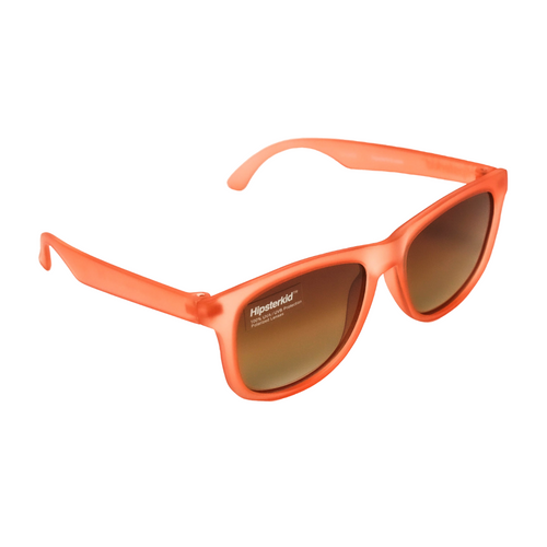 Hipster Kid Sunglasses in Rose are polarized, 100% UVA/UVB protection and durable for all of your adventures.
