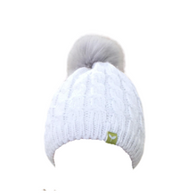 Load image into Gallery viewer, Stay warm with this fleece lined snow bunny beanie.