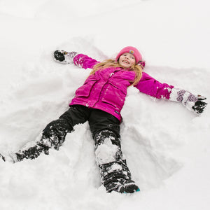 Make as many snow angels as you want and Snow Sleeves protect your wrists from the cold.