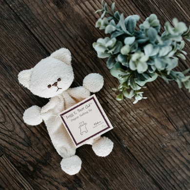 What better gift than this soft and cuddly organic cotton teething bear